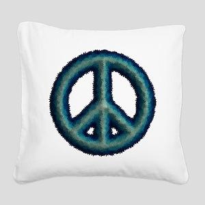 Flower Peace Symbol Square Canvas Pillow