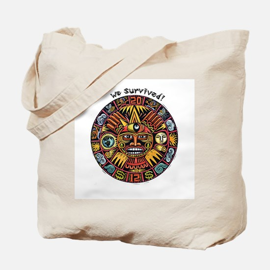 We Survived!2012 Mayan Calendar Tote Bag