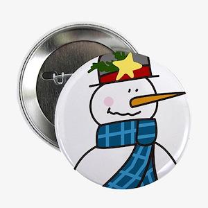 """Winter Snowman 2.25"""" Button"""