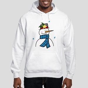 Winter Snowman Hooded Sweatshirt