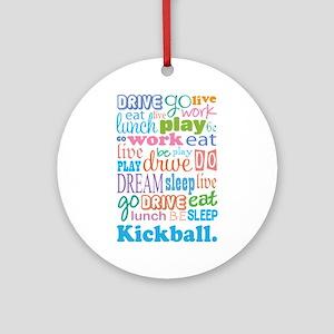 Kickball Ornament (Round)
