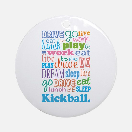 Kickball Ornament (Round)