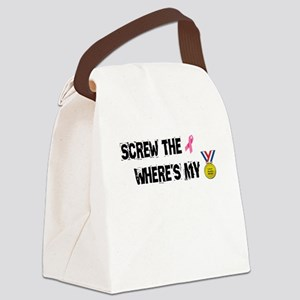 Screw the Ribbon Wheres my Medal! Canvas Lunch Bag