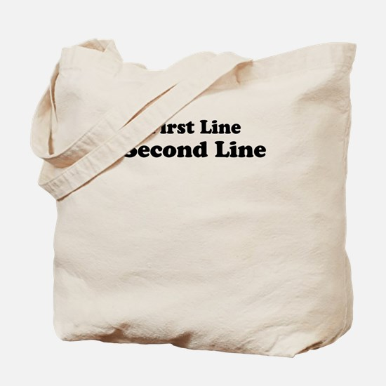 2lineTextPersonalization Tote Bag
