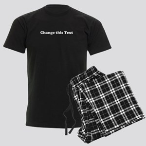 2lineTextPersonalization Men's Dark Pajamas