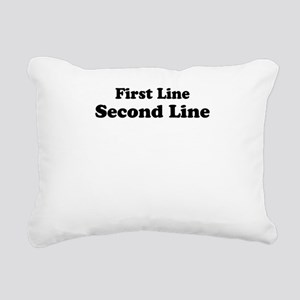 2lineTextPersonalization Rectangular Canvas Pillow