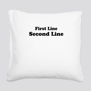 2lineTextPersonalization Square Canvas Pillow