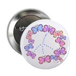 Butterfly Peace Button