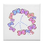 Butterfly Peace Tile Coaster