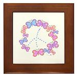 Butterfly Peace Framed Tile