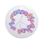 Butterfly Peace Ornament (Round)