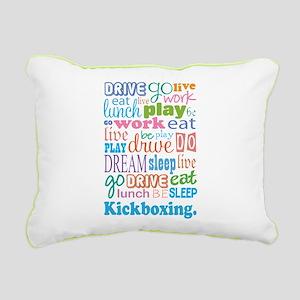 Kickboxing Rectangular Canvas Pillow