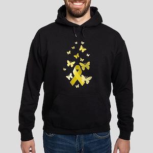 Yellow Awareness Ribbon Hoodie (dark)