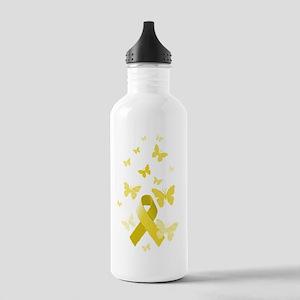 Yellow Awareness Ribbon Stainless Water Bottle 1.0