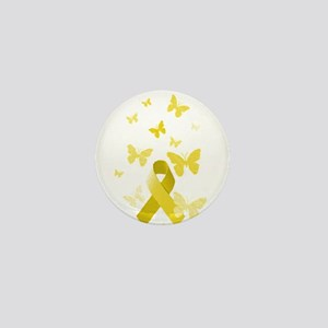 Yellow Awareness Ribbon Mini Button