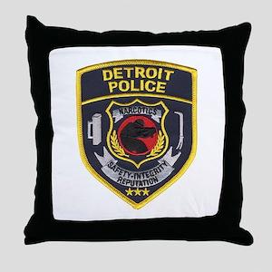 Detroit PD Narcotics Throw Pillow