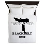 Taekwondo - Black Belt Custom Queen Comforter