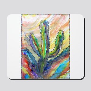 Cactus, southwest art! Mousepad