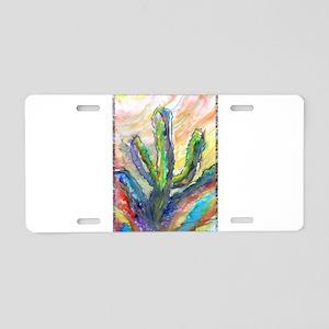 Cactus, southwest art! Aluminum License Plate