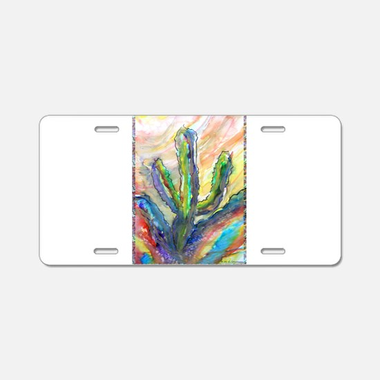 Cactus, southwest art! Aluminum License Plate