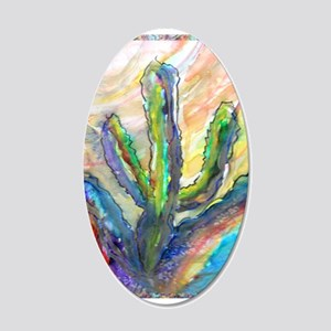 Cactus, southwest art! 20x12 Oval Wall Decal