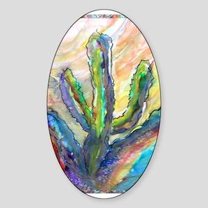 Cactus, southwest art! Sticker (Oval)