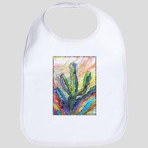 Cactus, southwest art! Bib