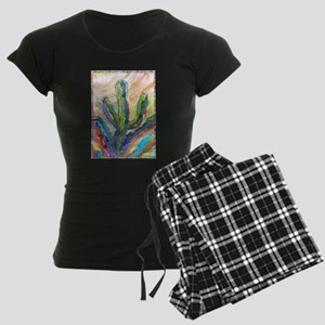 Cactus, southwest art! Women's Dark Pajamas