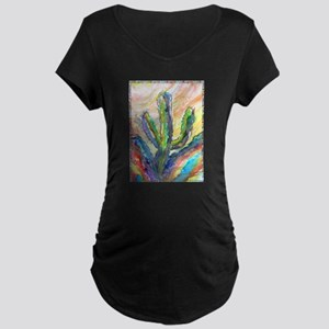 Cactus, southwest art! Maternity Dark T-Shirt