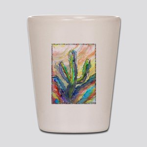 Cactus, southwest art! Shot Glass