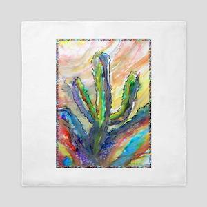 Cactus, southwest art! Queen Duvet