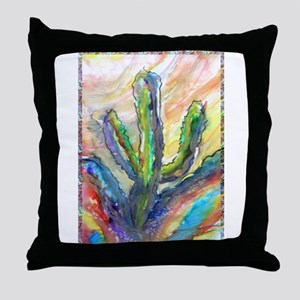 Cactus, southwest art! Throw Pillow