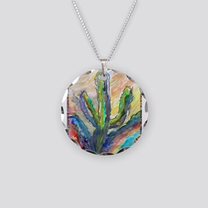 Cactus, southwest art! Necklace Circle Charm