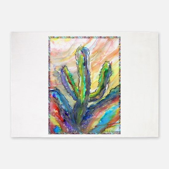 Cactus, southwest art! 5'x7'Area Rug