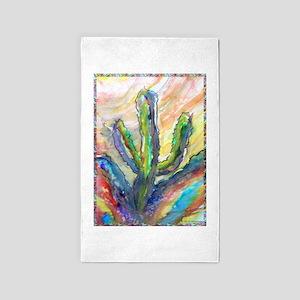 Cactus, southwest art! 3'x5' Area Rug