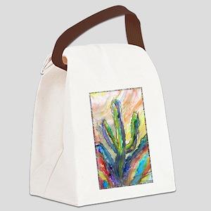 Cactus, southwest art! Canvas Lunch Bag