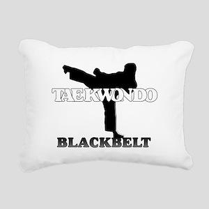 TKD Black Belt Rectangular Canvas Pillow