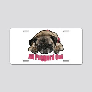 Puggerd out Aluminum License Plate