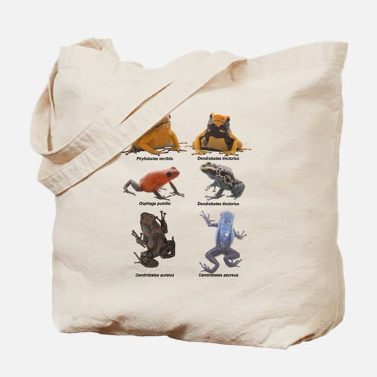 tropical poison frogs Tote Bag