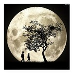 Full Moon Square Car Magnet 3