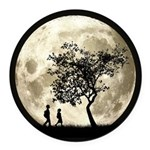 Full Moon Round Car Magnet