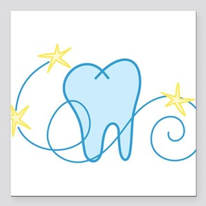 """Tooth Square Car Magnet 3"""" x 3"""""""