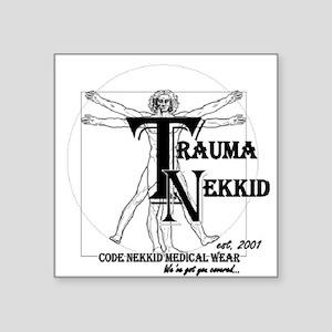 "Trauma Nekkid Logo Square Sticker 3"" x 3"""