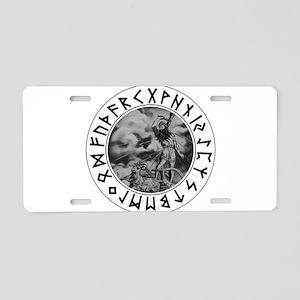 Thor Rune Shield Aluminum License Plate