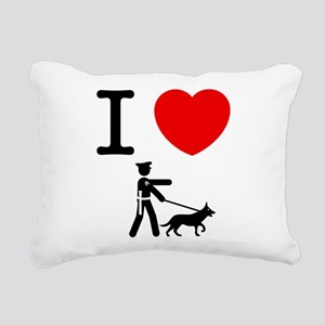 K9 Police Rectangular Canvas Pillow