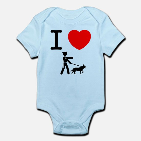 K9 Police Infant Bodysuit