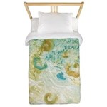 Sand and Surf Abstract Twin Duvet Cover
