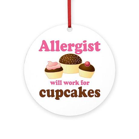 Allergist Cupcakes Ornament (Round)
