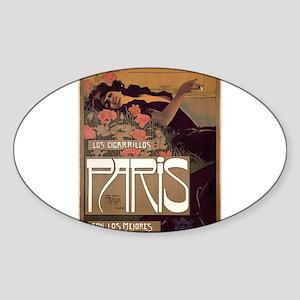 ART NOUVEAU Sticker (Oval)