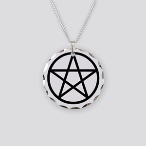 Pentacle Necklace Circle Charm